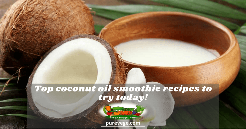 coconut oil smoothie