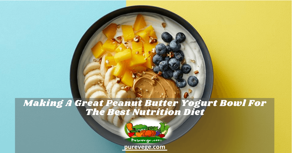 peanut butter yogurt bowl