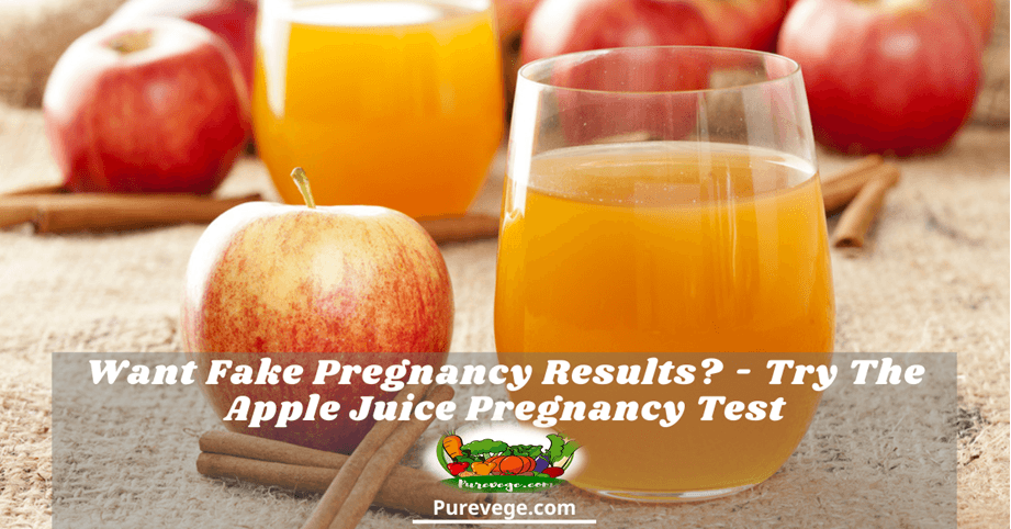 apple juice pregnancy test
