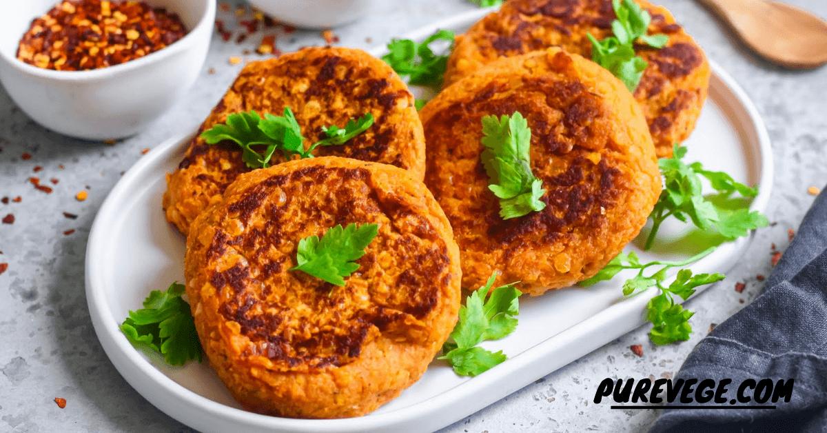 Lentil Cakes in Potato